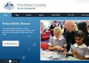 drupal australian prime ministers website