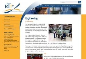 registered trade organisation website design